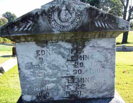 LEMING, DR. E - Yell County, Arkansas | DR. E LEMING - Arkansas Gravestone Photos