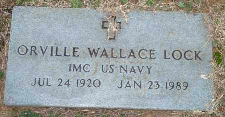 LOCK (VETERAN), ORVILLE WALLACE - Yell County, Arkansas | ORVILLE WALLACE LOCK (VETERAN) - Arkansas Gravestone Photos