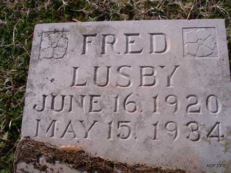 LUSBY, FRED - Yell County, Arkansas | FRED LUSBY - Arkansas Gravestone Photos