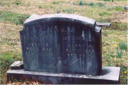 LUSBY, MAGGIE - Yell County, Arkansas | MAGGIE LUSBY - Arkansas Gravestone Photos