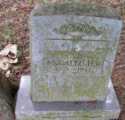 MCCALLISTER, C D - Yell County, Arkansas | C D MCCALLISTER - Arkansas Gravestone Photos