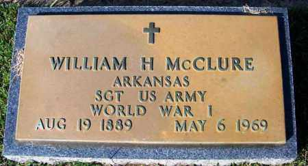 MCCLURE (VETERAN WWI), WILLIAM H - Yell County, Arkansas | WILLIAM H MCCLURE (VETERAN WWI) - Arkansas Gravestone Photos