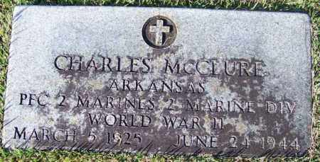 MCCLURE (VETERAN WWII), CHARLES - Yell County, Arkansas | CHARLES MCCLURE (VETERAN WWII) - Arkansas Gravestone Photos