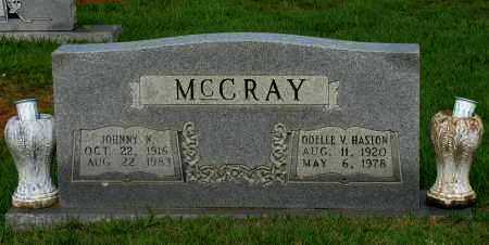 MCCRAY, JOHNNY N - Yell County, Arkansas | JOHNNY N MCCRAY - Arkansas Gravestone Photos