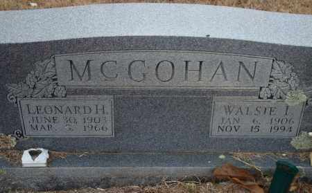 MCGOHAN, WALSIE I. - Yell County, Arkansas | WALSIE I. MCGOHAN - Arkansas Gravestone Photos