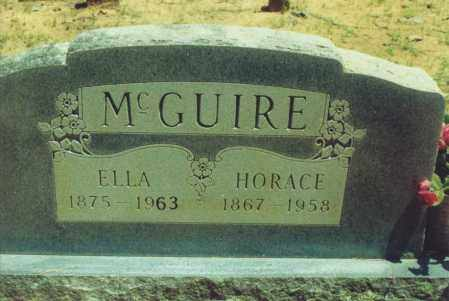 CAMPBELL MCGUIRE, ELLA MARGARET - Yell County, Arkansas | ELLA MARGARET CAMPBELL MCGUIRE - Arkansas Gravestone Photos