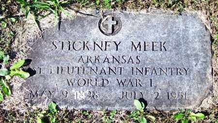 MEEK (VETERAN WWI), STICKNEY - Yell County, Arkansas | STICKNEY MEEK (VETERAN WWI) - Arkansas Gravestone Photos