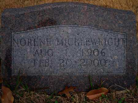MICKLEWRIGHT, NORENE - Yell County, Arkansas | NORENE MICKLEWRIGHT - Arkansas Gravestone Photos