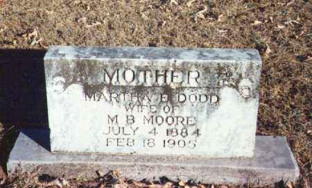 DODD MOORE, MARTHA - Yell County, Arkansas | MARTHA DODD MOORE - Arkansas Gravestone Photos
