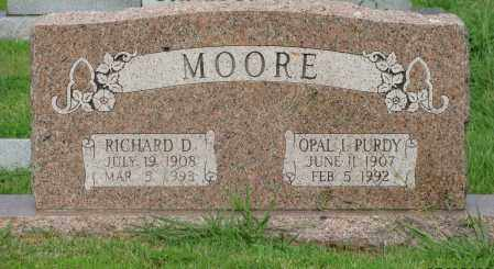 MOORE, RICHARD D - Yell County, Arkansas | RICHARD D MOORE - Arkansas Gravestone Photos