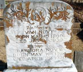 NOVY, VAN - Yell County, Arkansas | VAN NOVY - Arkansas Gravestone Photos