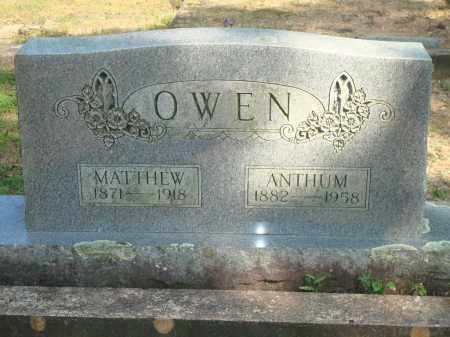 OWEN, ANTHUM - Yell County, Arkansas | ANTHUM OWEN - Arkansas Gravestone Photos
