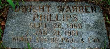 PHILLIPS, DWIGHT WARREN - Yell County, Arkansas | DWIGHT WARREN PHILLIPS - Arkansas Gravestone Photos