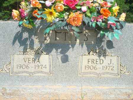 PITTS, FRED J - Yell County, Arkansas | FRED J PITTS - Arkansas Gravestone Photos