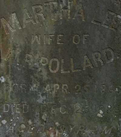 LEE POLLARD, MARTHA - Yell County, Arkansas | MARTHA LEE POLLARD - Arkansas Gravestone Photos