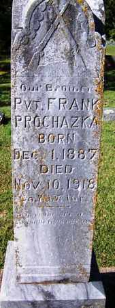 PROCHAZKA (VETERAN WWI), FRANK - Yell County, Arkansas | FRANK PROCHAZKA (VETERAN WWI) - Arkansas Gravestone Photos