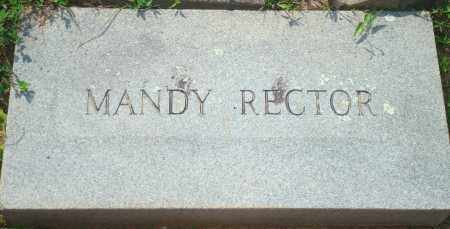 RECTOR, MANDY - Yell County, Arkansas | MANDY RECTOR - Arkansas Gravestone Photos