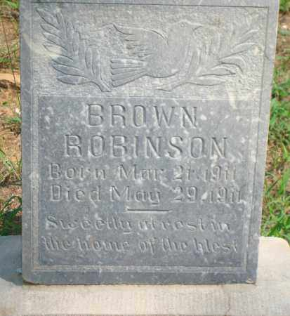 ROBINSON, BROWN - Yell County, Arkansas | BROWN ROBINSON - Arkansas Gravestone Photos