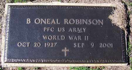 ROBINSON (VETERAN WWII), B ONEAL - Yell County, Arkansas | B ONEAL ROBINSON (VETERAN WWII) - Arkansas Gravestone Photos