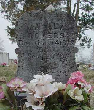 ROGERS, MAHALA - Yell County, Arkansas | MAHALA ROGERS - Arkansas Gravestone Photos