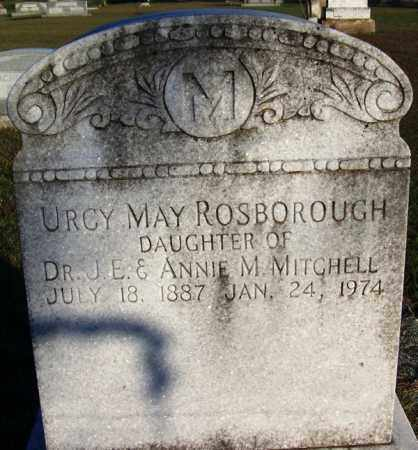 MITCHELL ROSBOROUGH, URCY MAY - Yell County, Arkansas | URCY MAY MITCHELL ROSBOROUGH - Arkansas Gravestone Photos