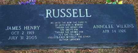 RUSSELL, JAMES HENRY - Yell County, Arkansas | JAMES HENRY RUSSELL - Arkansas Gravestone Photos