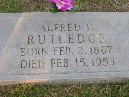 RUTLEDGE, ALFRED H. - Yell County, Arkansas | ALFRED H. RUTLEDGE - Arkansas Gravestone Photos