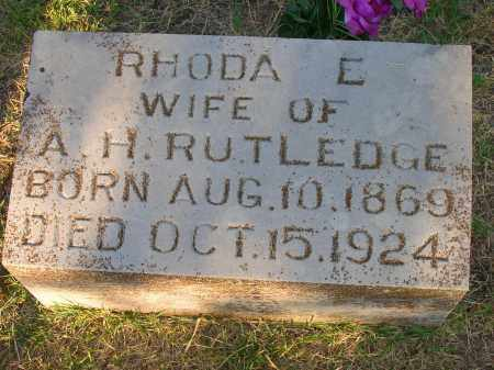 RUTLEDGE, RHODA E - Yell County, Arkansas | RHODA E RUTLEDGE - Arkansas Gravestone Photos