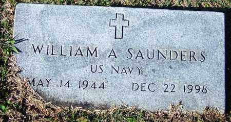SAUNDERS (VETERAN), WILLIAM A - Yell County, Arkansas | WILLIAM A SAUNDERS (VETERAN) - Arkansas Gravestone Photos