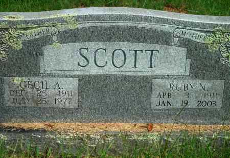 SCOTT, RUBY N - Yell County, Arkansas | RUBY N SCOTT - Arkansas Gravestone Photos