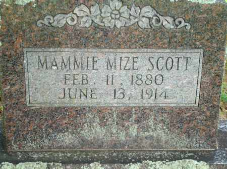 SCOTT MIZE, MAMMIE - Yell County, Arkansas | MAMMIE SCOTT MIZE - Arkansas Gravestone Photos