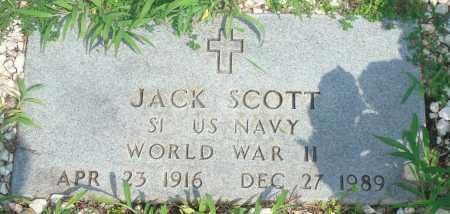 SCOTT (VETERAN WWII), JACK - Yell County, Arkansas | JACK SCOTT (VETERAN WWII) - Arkansas Gravestone Photos