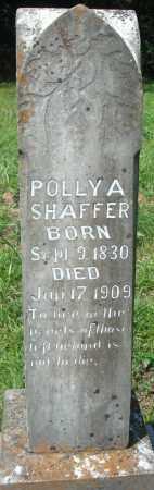 SHAFFER, POLLY A - Yell County, Arkansas | POLLY A SHAFFER - Arkansas Gravestone Photos