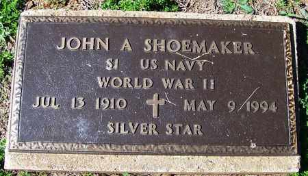 SHOEMAKER (VETERAN WWII), JOHN A - Yell County, Arkansas | JOHN A SHOEMAKER (VETERAN WWII) - Arkansas Gravestone Photos