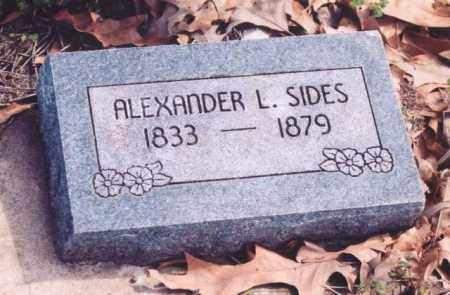 SIDES, ALEXANDER L. - Yell County, Arkansas | ALEXANDER L. SIDES - Arkansas Gravestone Photos