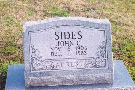 SIDES, JOHN C - Yell County, Arkansas | JOHN C SIDES - Arkansas Gravestone Photos