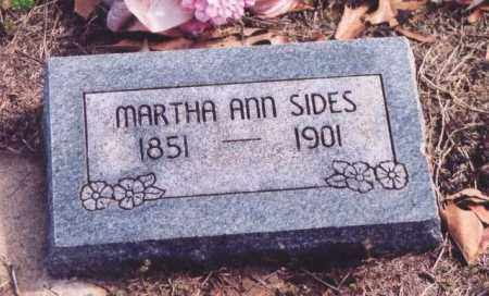 SIDES, MARTHA ANN - Yell County, Arkansas | MARTHA ANN SIDES - Arkansas Gravestone Photos