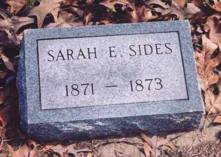 SIDES, SARAH E. - Yell County, Arkansas | SARAH E. SIDES - Arkansas Gravestone Photos