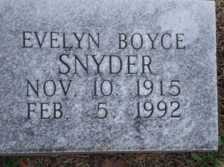 BOYCE SNYDER, EVELYN - Yell County, Arkansas | EVELYN BOYCE SNYDER - Arkansas Gravestone Photos
