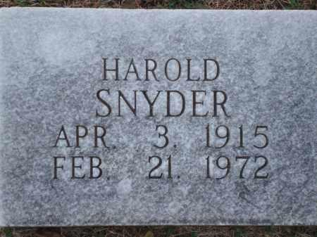 SNYDER, HAROLD - Yell County, Arkansas | HAROLD SNYDER - Arkansas Gravestone Photos