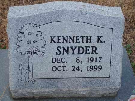 SNYDER, KENNETH K. - Yell County, Arkansas | KENNETH K. SNYDER - Arkansas Gravestone Photos