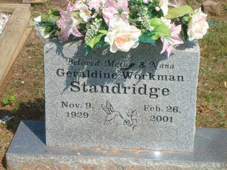 STANDRIDGE, GERALDINE - Yell County, Arkansas | GERALDINE STANDRIDGE - Arkansas Gravestone Photos