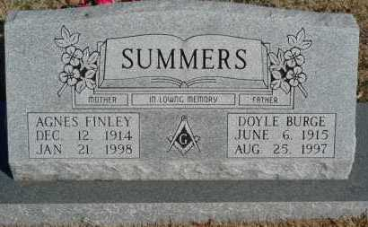 FINLEY SUMMERS, AGNES - Yell County, Arkansas | AGNES FINLEY SUMMERS - Arkansas Gravestone Photos