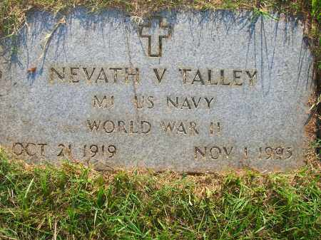 TALLEY (VETERAN WWII), NEVATH V - Yell County, Arkansas | NEVATH V TALLEY (VETERAN WWII) - Arkansas Gravestone Photos