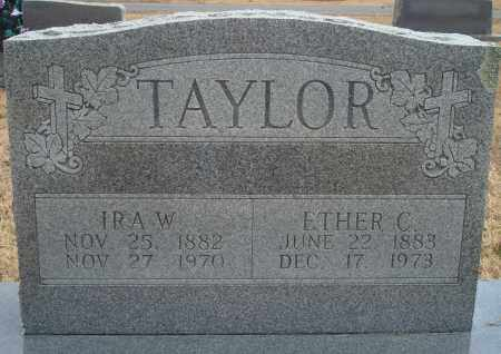TAYLOR, ETHER C - Yell County, Arkansas | ETHER C TAYLOR - Arkansas Gravestone Photos