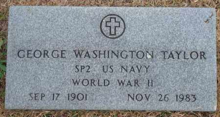 TAYLOR (VETERAN WWII), GEORGE WASHINGTON - Yell County, Arkansas | GEORGE WASHINGTON TAYLOR (VETERAN WWII) - Arkansas Gravestone Photos
