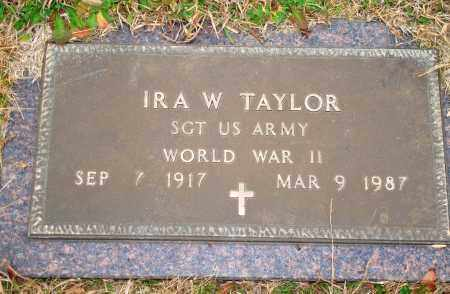 TAYLOR (VETERAN WWII), IRA W - Yell County, Arkansas | IRA W TAYLOR (VETERAN WWII) - Arkansas Gravestone Photos