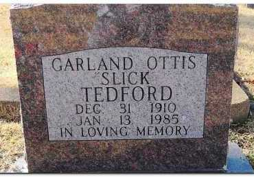 "TEDFORD, GARLAND OTTIS ""SLICK"" - Yell County, Arkansas 
