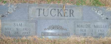 TUCKER, SAM (FOOTSTONE) - Yell County, Arkansas | SAM (FOOTSTONE) TUCKER - Arkansas Gravestone Photos