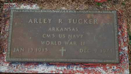 TUCKER (VETERAN WWII), ARLEY R - Yell County, Arkansas | ARLEY R TUCKER (VETERAN WWII) - Arkansas Gravestone Photos